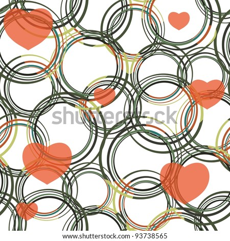 Seamless vivid valentine abstract pattern - stock vector