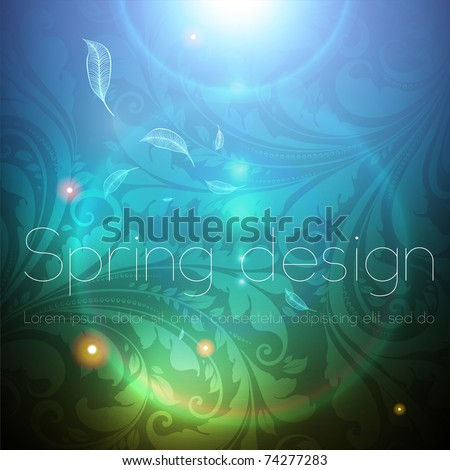 Seamless Wallpaper Background with sun shine, glow sparks and stars. Colorful spring design. eps 10. - stock vector