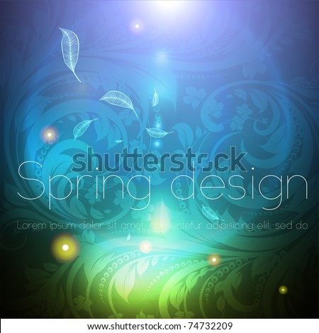 Seamless wallpaper background with sun shine, glow sparks and stars. Colorful spring or summer design. eps 10.