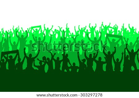 Seamless wallpaper from fans for sports championships and music concerts. - stock vector