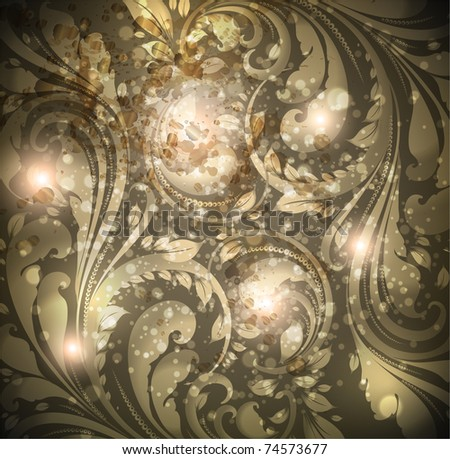 Seamless wallpaper pattern silver for retro design, vector. Eps 10. - stock vector