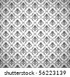 Seamless wallpaper pattern, vector - stock photo