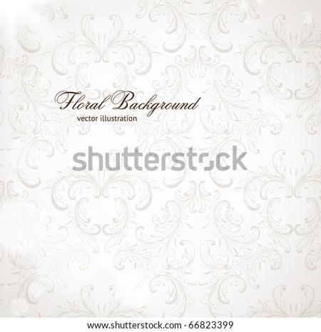 Seamless Wallpaper, Vector Background - stock vector