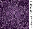 Seamless wallpaper with curves on gradient violet stylish background - stock vector