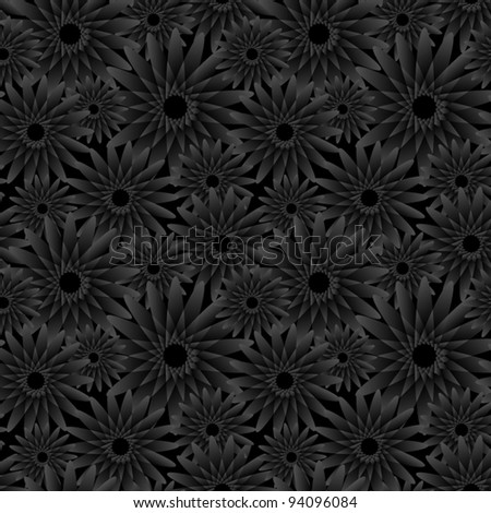 Seamless Wallpaper with floral ornament for vintage design, Vector retro background - stock vector