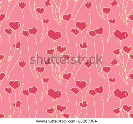 Seamless wallpaper with hearts. Valentine.
