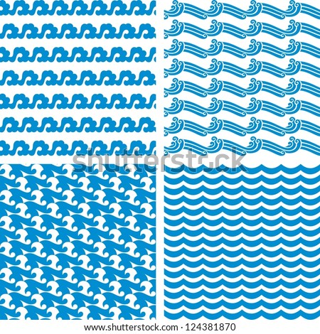 Seamless water wave patterns