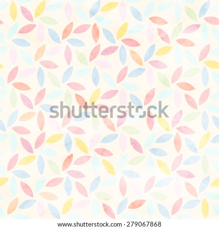 Seamless watercolor floral pattern. Vector background - stock vector