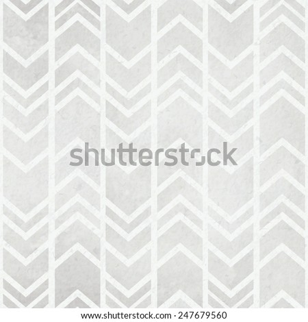 Seamless  watercolor paper background with tribal ikat watercolour grey pattern - stock vector