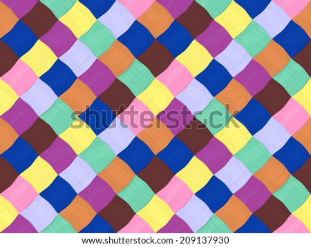 seamless wattled bright yarn pattern, textile color background - stock vector