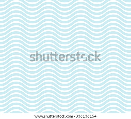 Seamless wave line pattern, geometric shape - vector illustration