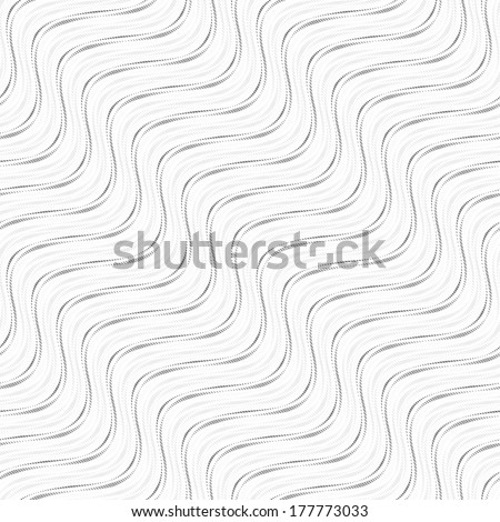 Seamless wave pattern. Vector diagonal lines, black and white texture.
