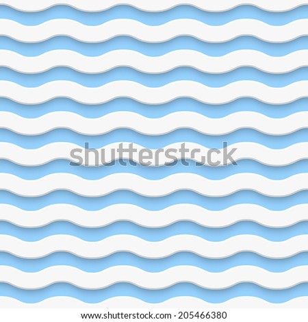 Seamless wave pattern. Vector illustration - stock vector