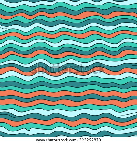 Seamless wave pattern, waves background. Can be used for wallpaper, pattern fills, web page background,surface textures.