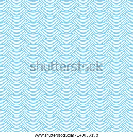 seamless waves abstract pattern - stock vector