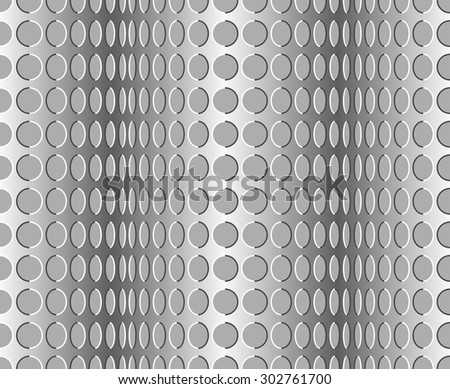 Seamless wavy pattern. Optical illusion with motion background - stock vector