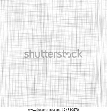 Seamless White Cloth Linen Texture - stock vector