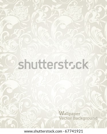 Seamless White Floral Pattern, eps10 - stock vector