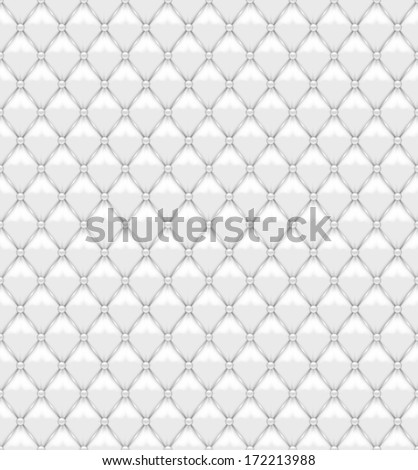 Seamless White Leather Upholstery - stock vector