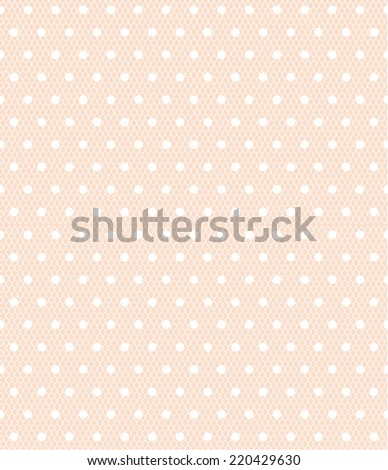 Seamless white polka dot pattern on a sweet pastel pink background. vector art image illustration background for web design, blog, desktop wallpaper, card, invitation, wedding or baby shower album... - stock vector
