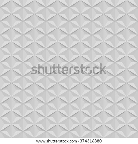 Seamless white wall star shaped vector pattern. - stock vector