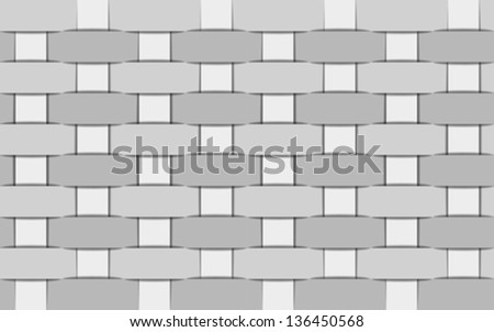 Seamless wicker gray background. Vector illustration - stock vector