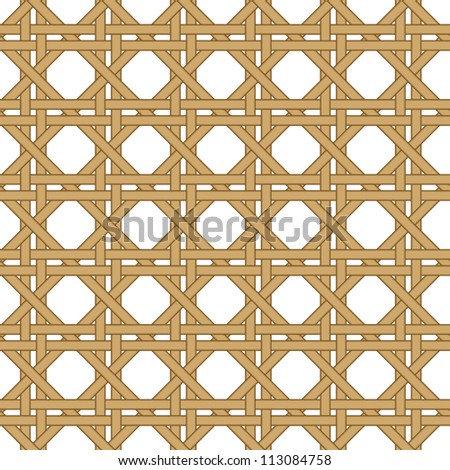 seamless wicker woven texture background - stock vector