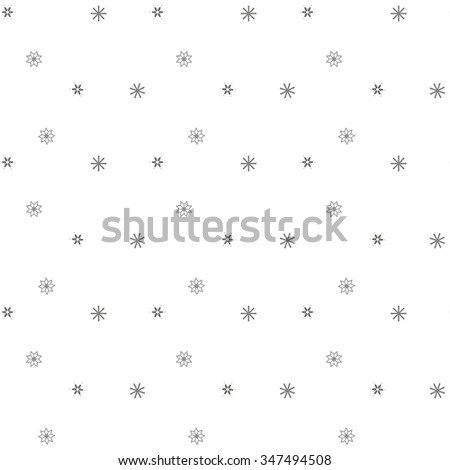 Seamless winter of fishnet star on a white background. Abstract background. Seamless pattern of falling snowflakes. - stock vector