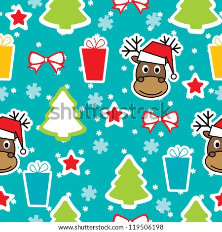 Seamless winter pattern, Christmas - stock vector