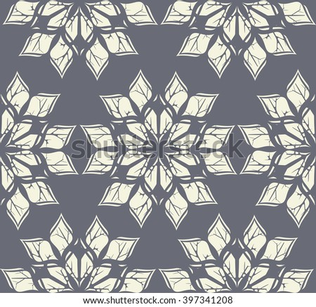 Seamless winter pattern with abstract snowflakes. Winter background for your designs. - stock vector