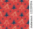 Seamless winter pattern with Christmas trees. Package texture with decorative spruces. Abstract holiday backdrop for crafts, prints, wallpapers - stock vector
