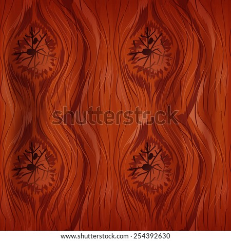seamless wood texture - stock vector