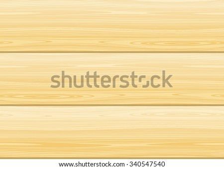 Seamless wood texture. Vector light planking background. Birch, pine, spruce, maple, larch or aspen color - stock vector