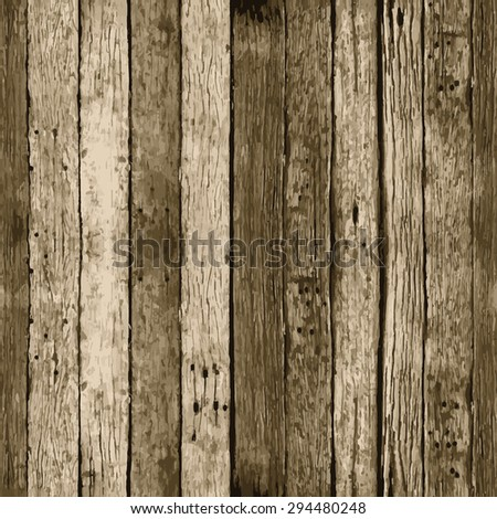 Seamless wood texture with natural pattern. Vector background.