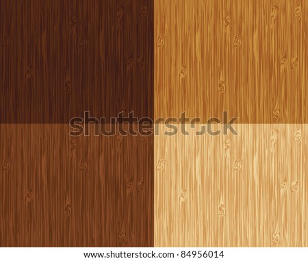Seamless wooden pattern. 4 color variations. - stock vector