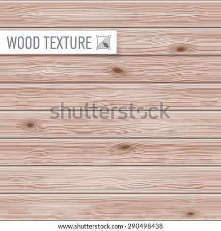 Seamless wooden texture of a horizontal planks - stock vector