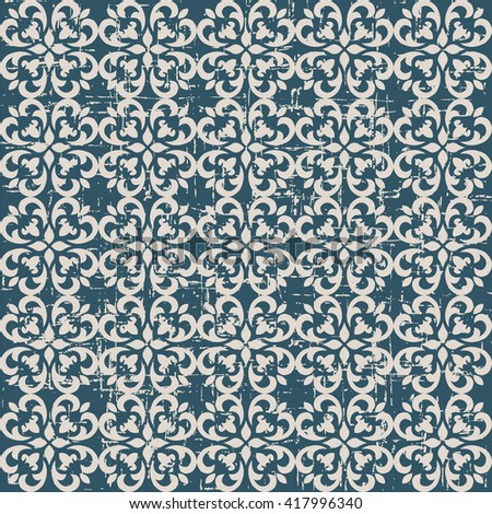 Seamless worn out vintage background 361_spiral curve cross kaleidoscope