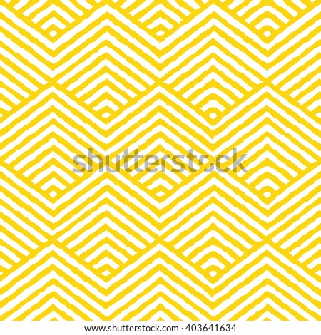 Seamless yellow vector geometric pattern.  - stock vector
