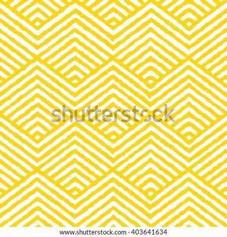 Seamless yellow vector geometric pattern.  - stock vector
