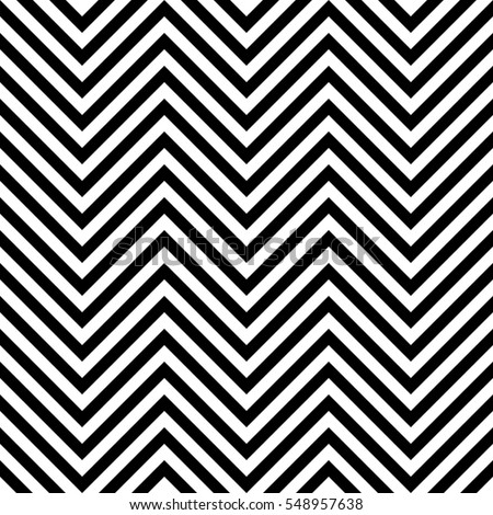 Seamless zig zag background. Chevron pattern in black and white