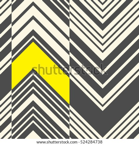 Seamless Zig Zag Pattern. Abstract  Black and Yellow Stripe Background. Vector Zigzag Regular Texture.Abstract Modern Fabric Design.
