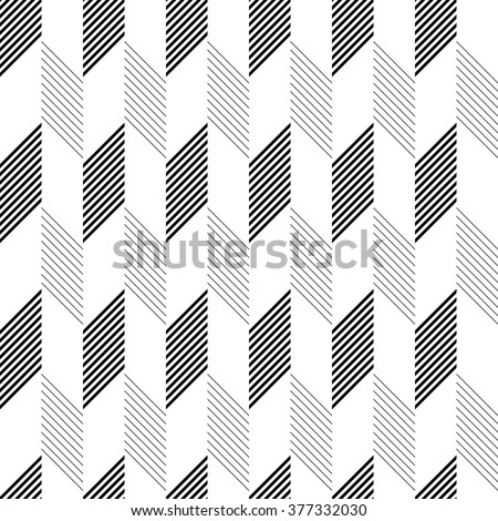 Seamless Zig Zag Pattern. Abstract  Monochrome Background - stock vector