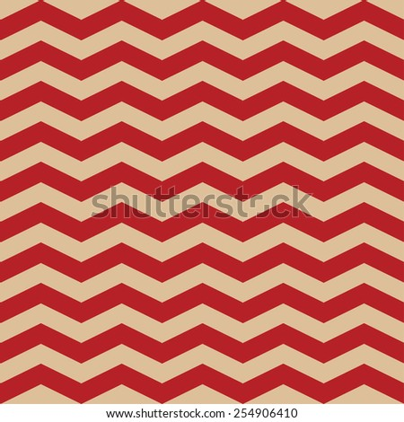 Seamless ZigZag Chevron Pattern. Red and beige vector background - stock vector