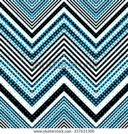 Seamless ZigZag Pattern. Abstract  Black and Blue Background. Vector Regular Texture - stock vector