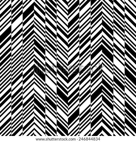 Seamless ZigZag Pattern. Abstract  Monochrome Background. Vector Regular Texture - stock vector