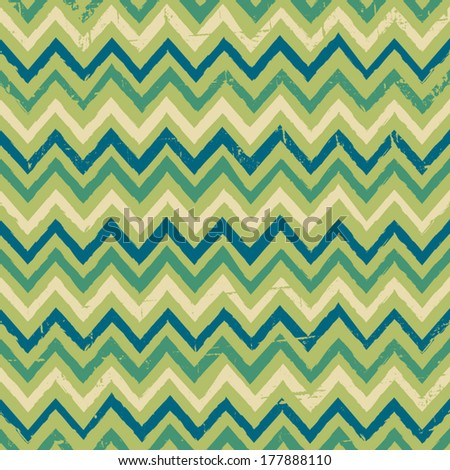 Seamless zigzag pattern in yellow and green colors. - stock vector