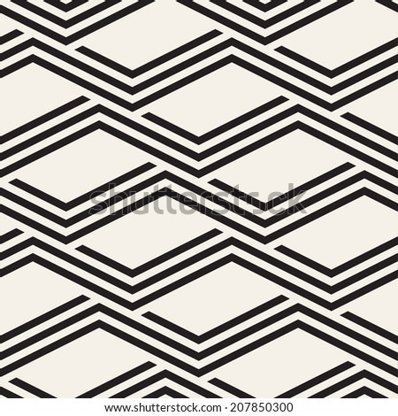Seamless zigzag pattern. Repeating vector texture. Striped zigzag. Graphic background - stock vector