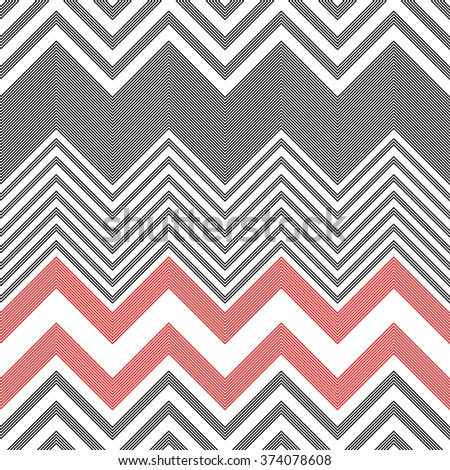 Seamless ZigZag Pattern. Vector Abstract  Background - stock vector