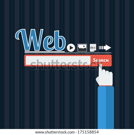 Search bar browser in flat design - stock vector