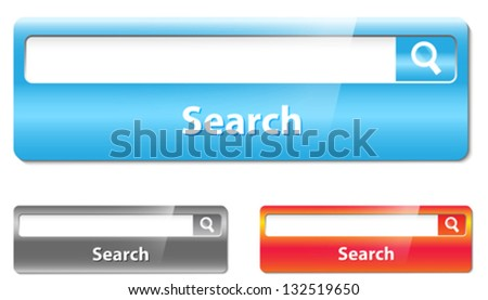 Search bar design. Vector illustration - stock vector